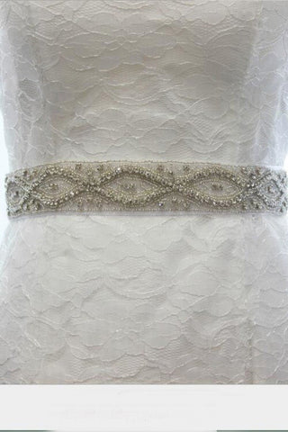 All Around Beading Bridal Belt Wedding Sash Crystal Jeweled Sash BS9