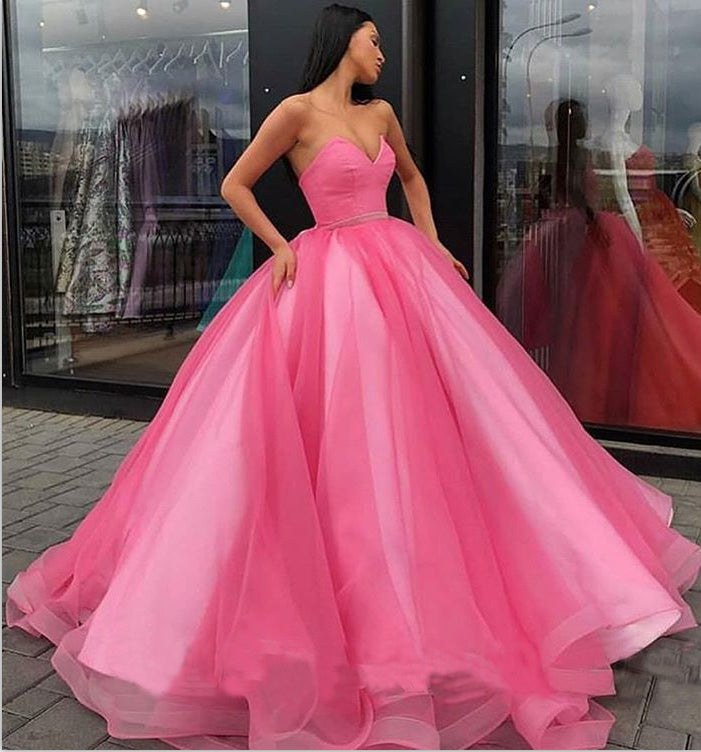 Sweetheart Yellow Long Modest Prom Gown, Long A-line Fashion Prom Dress OKP79