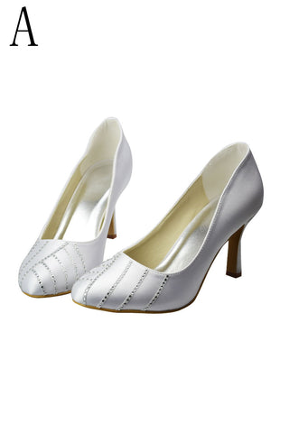 Free Shipping High Heel Beading Simple Close Toe Women Shoes S19