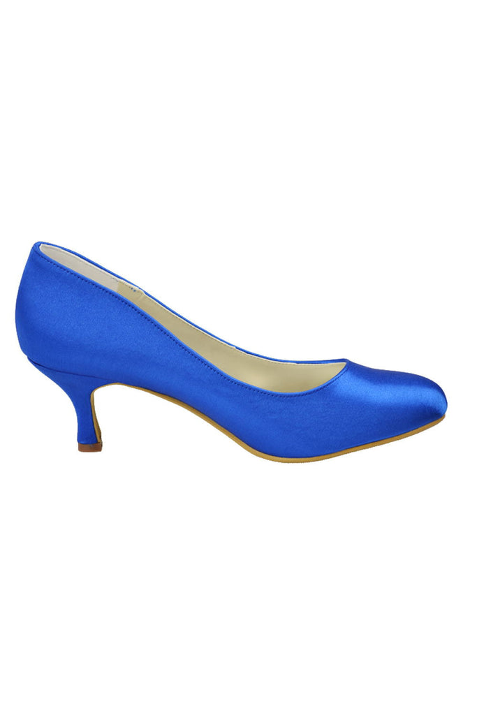 Royal Blue Simple Cheap Handmade Comfortable Beautiful Shoes For Wedding S20