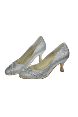 Charming Sparkly Sequin Shiny Beading Handmade Shoes For Wedding S26