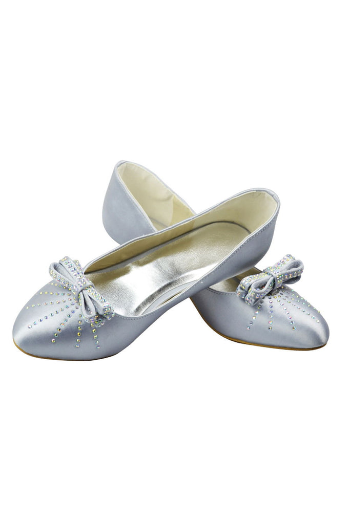 Beading Low Heel Handmade Women Shoes With Bow Knot S27