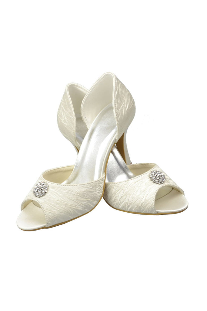 High Heel Handmade Wedding Shoes Women Shoes With Beads S28