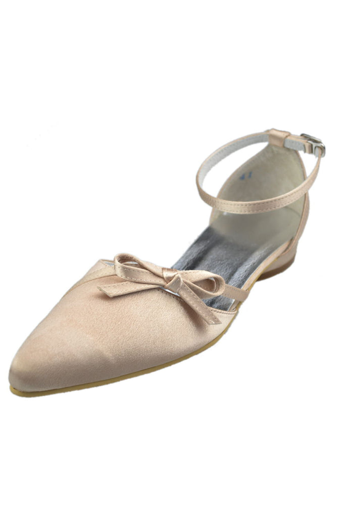 Charming Ankle Strap handmade Comfy Flats For Wedding S46