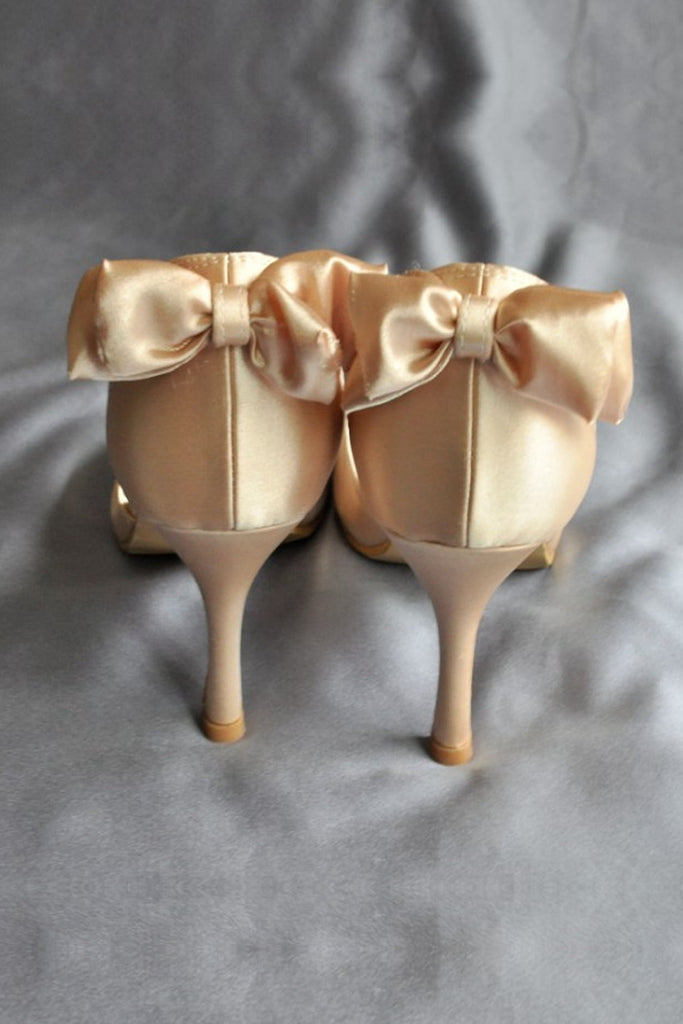 Gorgeous High Heel Peep Toe Wedding Shoes With Bow Knot  S48