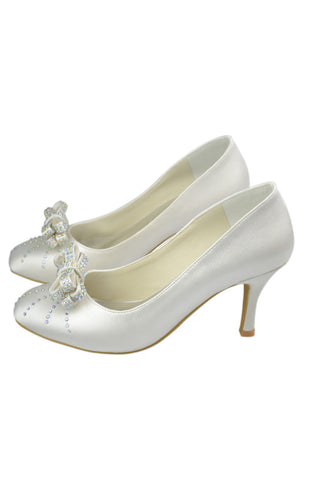 Free Shipping Simple Elegant Handmade Wedding Shoes With Bow Knot S58