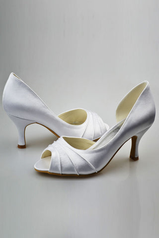 Simple Elegant Comfortable Peep Toe Handmade Wedding Shoes S72