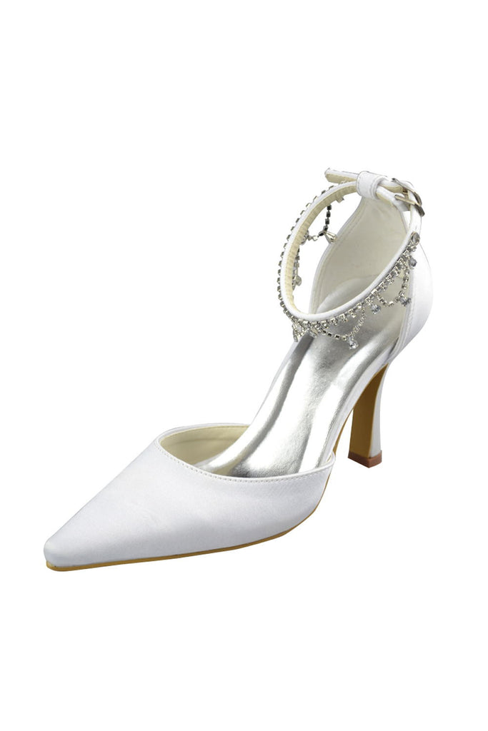 Pointed Toe Handmade Beautiful Ankle Strap Women Shoes S74