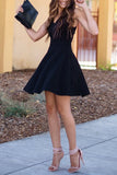 Sexy Homecoming Dress,A-line Homecoming Dress,Black Homecoming Dresses,Sweet 16 Dress,Short Prom Dress,Black Prom Dresses