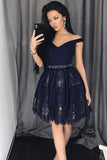 Navy Blue Homecoming Dresses,A Line Homecoming Dresses,Short Homecoming Dresses,Short Prom Dresses,Lace Prom Dresses,Prom Dress For Teens,Graduation Party Dresses,Sweet 16 Dresses