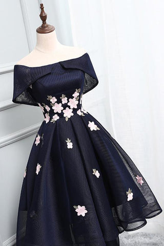 Ball Gown Homecoming Dress,Off the Shoulder Homecoming Dresses,Short Homecoming Dresses,Appliqued Prom Dresses,Chic Homecoming Dresses,Asymmetrical Prom Dresses,Short Prom Dress