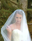 2 Tier Hip Length Blusher Wedding Veils WV6