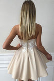 Cute Sweetheart Lace Appliques Short Prom Dress A Line Homecoming Dress For Girls OK424