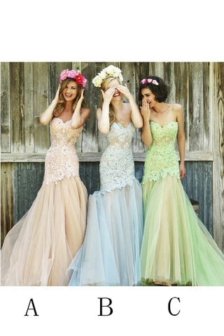 Mermaid Bridesmaid Dresses,Long Evening Dress,Strapless Bridesmaid Dress,Lace Prom Gowns,.Miss Prom Dresses,Fashion Prom Dresses