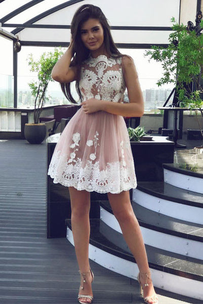 Tulle Homecoming Dresses,A Line Homecoming Dresses,Short Homecoming Dresses,Short Prom Dresses,White Lace Prom Dresses,Prom Dress For Teens,Graduation Party Dresses,Sweet 16 Dresses