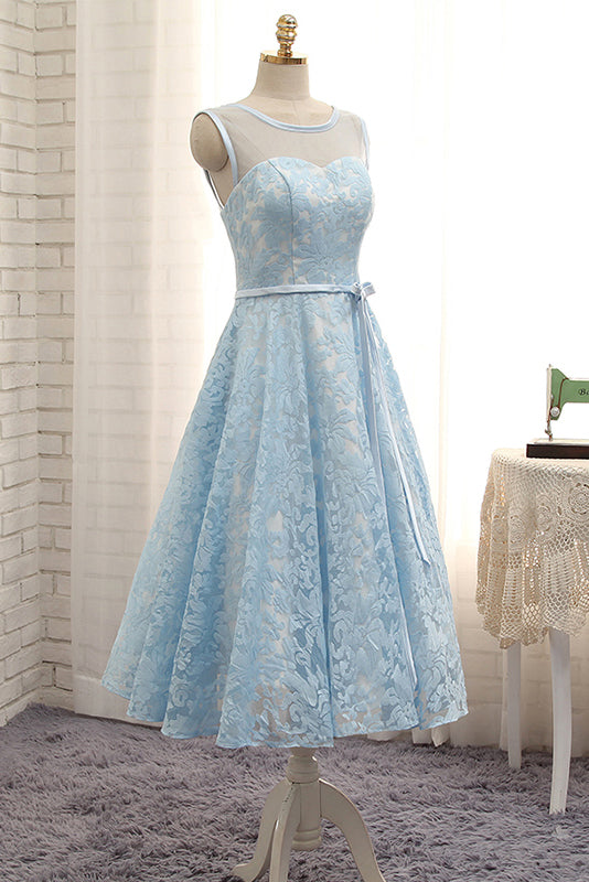 Blue Homecoming Dresses,Simple Homecoming Dress,Short Homecoming Dress,A Line Homecoming Dresses,Sleeveless Homecoming Dresses,Lace Homecoming Dresses