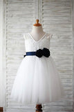 Tulle Flower Girl Dress,Flower Flower Girl Dresses,White Flower Girl Dress