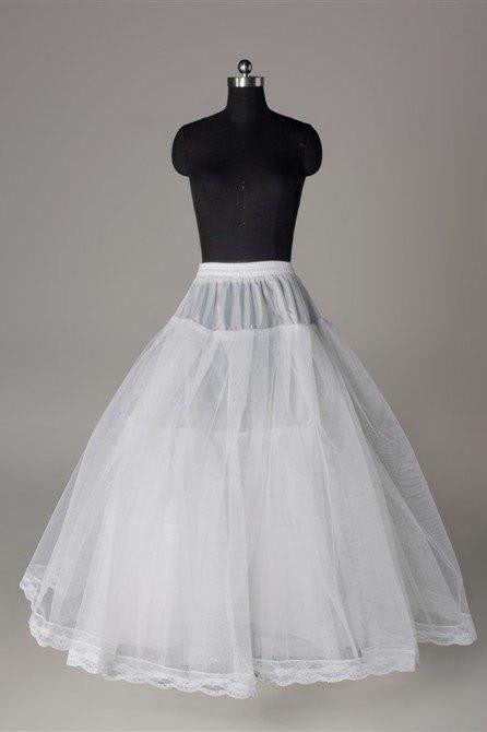 Fashion A Line Wedding Petticoat Accessories White Floor Length OKP3