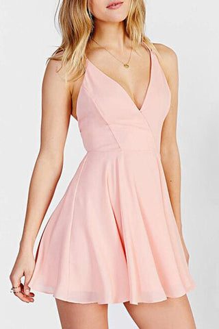 03d8d2c83b2b Lovely Pink V Neck Simple Short Prom Homecoming Dress