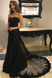 Sweetheart Prom Dresses,Black Prom Gown,Tulle Prom Dress,Prom Dresses For Teens,Graduation Party Dresses