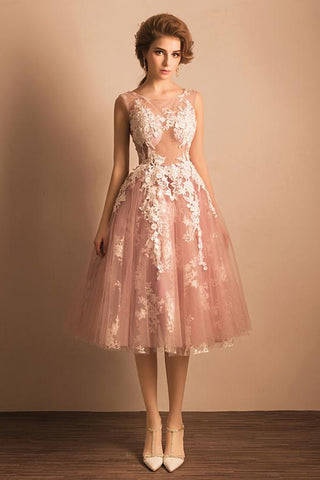 A Line Homecoming Dresses,Pink Homecoming Dress,Junior Prom Dresses,Sexy Prom Dress,Lace Evening Dress,Pink Prom Dress,See through Party Dresses,Short Homecoming Dresses