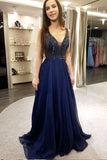 Sexy Prom Dresses,Low Cut Prom Gown,Chiffon Prom Dress,Beading Prom Dress,Prom Dresses For Teens,Graduation Party Dresses