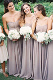 Beautiful Bridesmaid Dresses,Strapless Bridesmaid Dress,Chiffon Bridesmaid Dresses,Long Bridesmaid Dresses