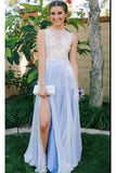 Affordable Prom Dress,See Through Prom Dresses,Chiffon Prom Dress,Slit Prom Dress,Graduation Party Dresses