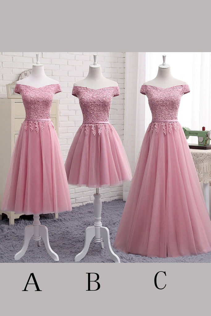 Cute Homecoming Dresses,Pink Homecoming Dress,Cap Sleeves Prom Dresses,Off Shoulder Prom Dress,Lace Evening Dress,Pink Prom Dress,Cheap Party Dresses,Junior Homecoming Dresses