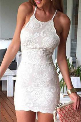 Sexy homecoming dresses,Sheath Prom Dress,Mini Party Dresses,Short Prom Dress,White Homecoming Dress,Lace Homecoming Dress,Short Homecoming Dress