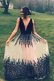V-Neck Prom Dress,Long Prom Dresses,Charming Prom Dresses,Evening Dress, Prom Gowns, Formal Women Dress,prom dress
