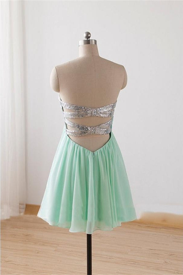 Homecoming Dresses,Sweetheart Homecoming Dresses,Mint Homecoming Dresses K235