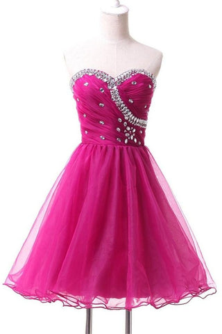 Charming Sparkly Cute Sweetheart Beading Homecoming Dresses K240