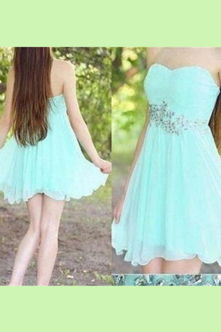 Pretty Girly Elegant Mint Short Chiffon Mini Homecoming Dresses K388