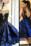 Gorgeous Sparkly A-line Royal Blue Backless Homecoming Dresses K412