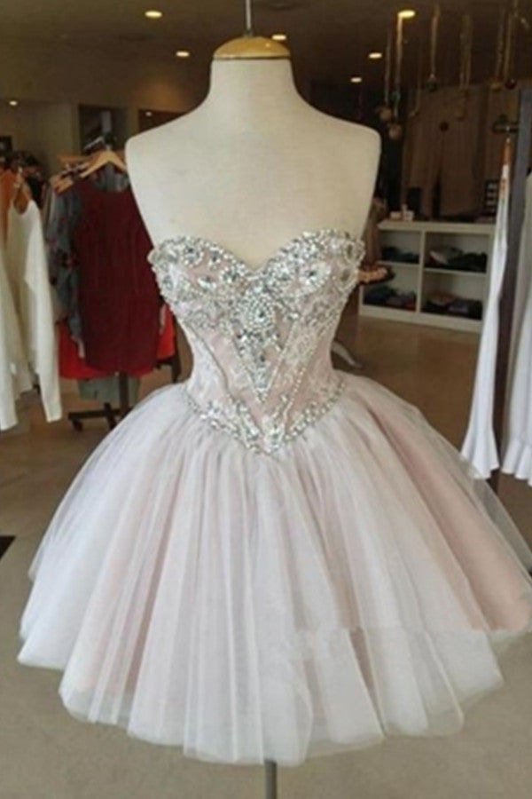 Handmade Short Beading Sweetheart A-line Formal Homecoming Dresses K499