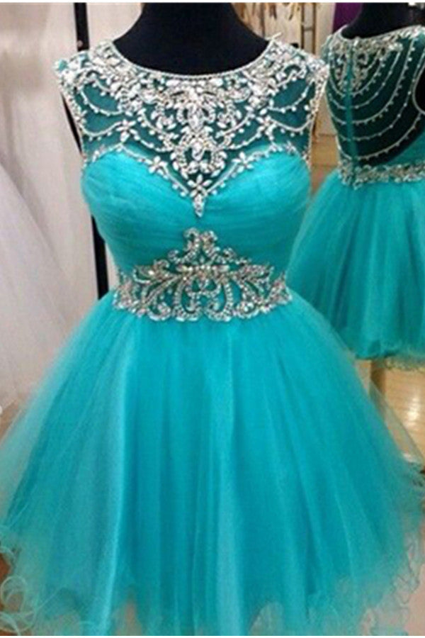 Sparkly Handmade Close Back Tulle Pretty Homecoming Dresses K530