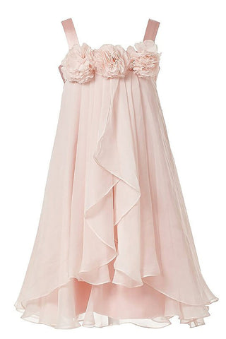 Princess Flower Girl Dress,Pink Flower Girl Dresses,Chiffon Flower Girl Dress
