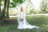 Alencon Lace Edged Cathedral Length Tulle Bridal Veil Wedding WV16