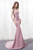 Elegant Prom Dresses,Mermaid Prom Gown,Pink Prom Dress,Beading Prom Dresses