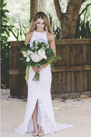 2018 Wedding Dresses,Open Back Wedding Dress,Beach Wedding Dresses,Lace Bridal Dresses,White Bridals Dress