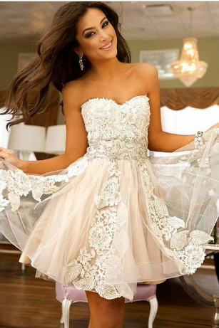 Cute Homecoming Dresses,Sweetheart Homecoming Dress,Lace Homecoming Dresses,Short Homecoming Dress,Tulle Homecoming Dresses