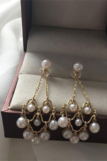 Akoya Pearl Earrings with Removable Dangling Part P5