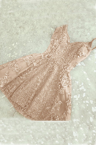 A-Line Homecoming Dresses,Spaghetti Straps Homecoming Dress,Champagne Homecoming Dresses,Short Prom Dresses,Short Homecoming Dress,Cute Homecoming Dress