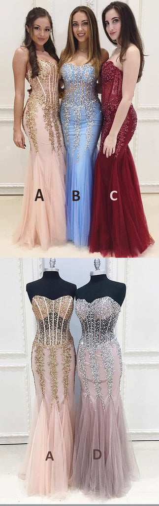 Long Cheap Sweetheart Prom Dress,See Through Mermaid Sexy Evening Party Dresses OK844