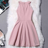 Simple Halter Zipper Mini Homecoming Dresses,Sexy Party Dress,Short Evening Dress OK326