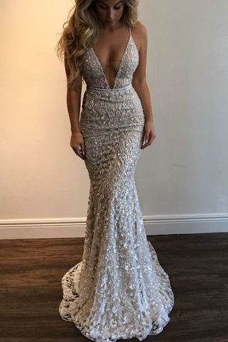 Mermaid 2017 Spaghetti Straps Prom Dress b5dfacb12