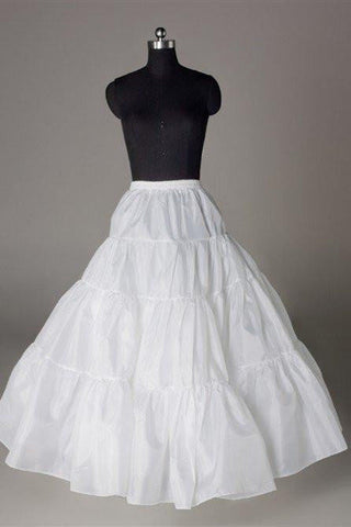 Fashion A Line Wedding Petticoat Accessories White Floor Length OKP16