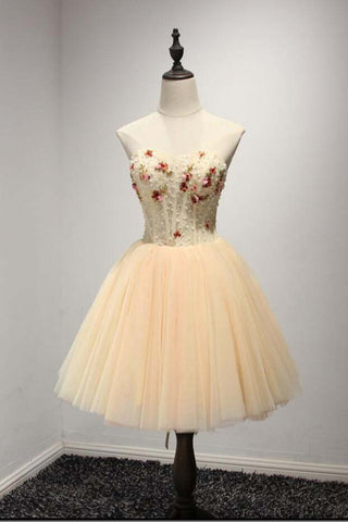 A Line Homecoming Dress,Sweetheart Homecoming Dresses,Short Homecoming Dresses,Tulle Prom Dresses,Fashion Homecoming Dresses,Ball Gown Prom Dresses