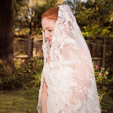 All Over Lace Unique Mantilla Church Bridal Veil WV19